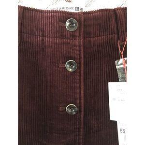 2d9ddcb562 Uniqlo Skirts | Idlf Corduroy Mini Skirt Size 22inch | Poshmark